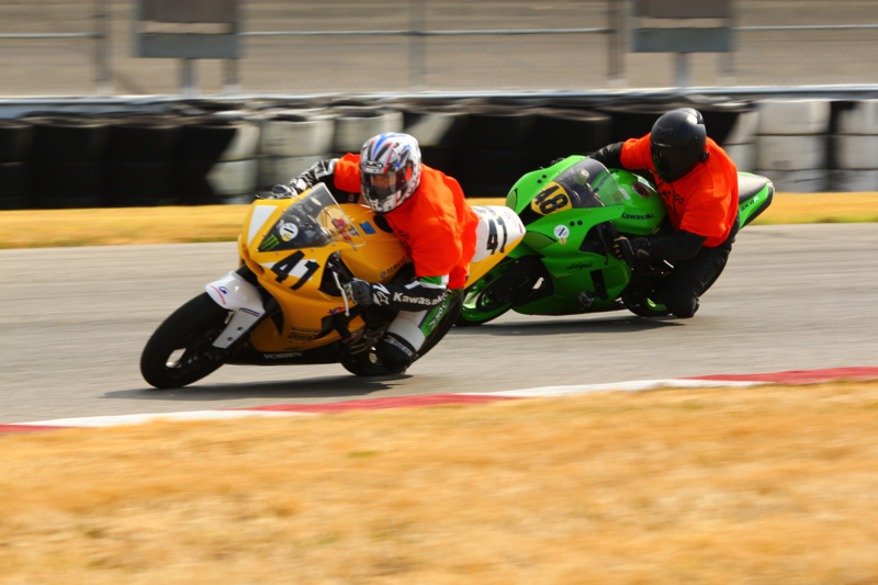 Bobby and Me in the Mock Race