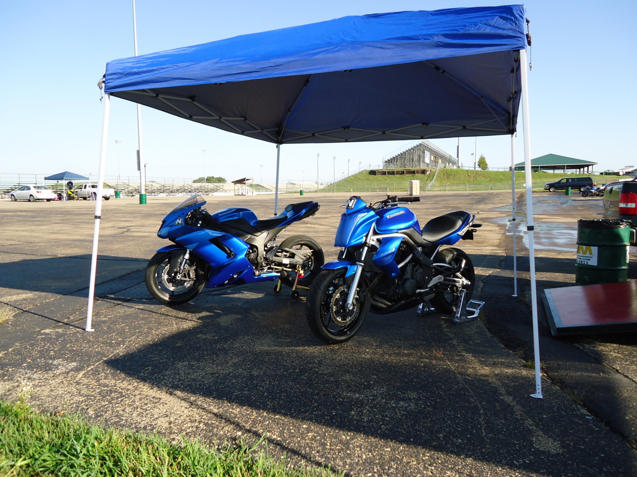 Me and Dozer's bikes at HPT 2011