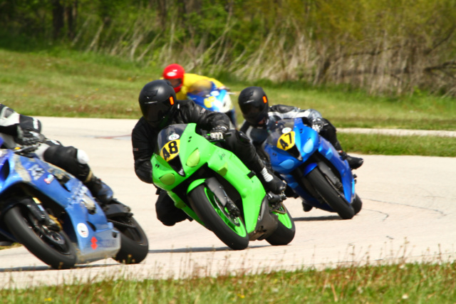 Me and Chris at Putnam - Chris's First Track Day